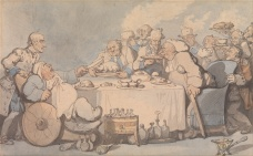 Thomas_Rowlandson_-_Comforts_of_Bath-_Gouty_Gourmands_at_Dinner_-_Google_Art_Project